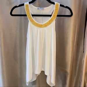 Tank top w/ gold beaded neckline ~ Charlotte Russe